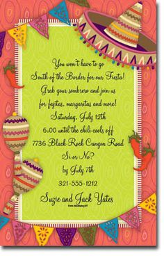 Mexican fiesta theme birthday party for adults