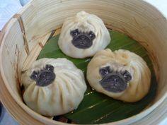 Pug Dumplings! Photoshopped, I'm sure, but still so adorable!