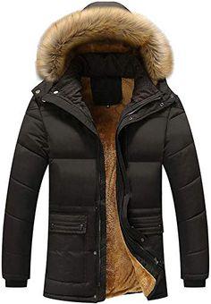 moxishop Mens Blazer Lapel Sheepskin Leather Fur Coat Warm Winter Trench Parka Lambswool Lined Duffle Coat