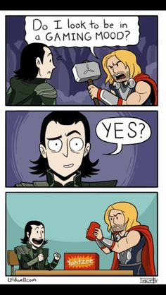 Loki and Thor Comic