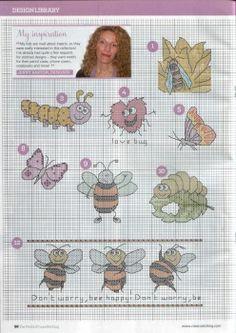 Cross stitch bugs, pin 1 of 5