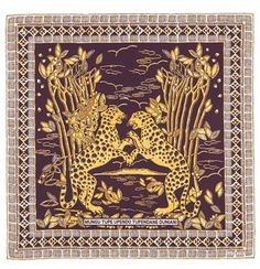 VALENTINO Tribal cheetah print silk twill scarf