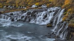 https://flic.kr/p/p2JffU | Hraunfossar 4 | This gorgeous waterfall series, whose name translates to Lava Falls, was also on my To See list this trip. It was even more spectacular than I'd imagined, and very quickly became my favourite waterfall (or series of waterfalls) in Iceland.   www.jenstlouisphotography.com | Facebook | Twitter