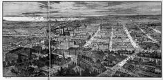 Melbourne, looking west from above Bourke Hill in At the rear far right, the former West Melbourne swamp can still be seen. West Melbourne, Melbourne Victoria, Victoria Australia, Panoramic Photography, Aerial Photography, Photography Photos, Van Diemen's Land, Modern History, Amazing Pics