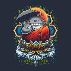 Enlightened Neighbor - TeeFury Shirt - My Neighbor Totoro Buddha studio ghibli Hayao Miyazaki, Manga Anime, Anime Art, Studio Ghibli Shirt, Images Kawaii, Ghibli Movies, Howls Moving Castle, My Neighbor Totoro, Animation