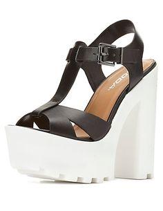 77c659b0c Soda Lug Sole Platform T-Strap Sandals