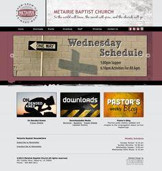 Metairie Baptist Church - Brand design, web design and development.