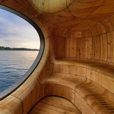grotto sauna by partisans features bold sculptural forms. This is fabulous!