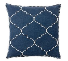 Tile Embroidered Pillow Cover, 22