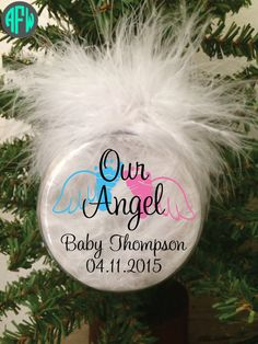 I want one...   Memorial Ornament Baby Angel Infant Loss by AFWifeCreations