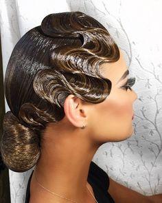Likirichenko Elena's photos Latin Hairstyles, Vintage Hairstyles, Braided Hairstyles, Wedding Hairstyles, Dance Competition Hair, Ballroom Dance Hair, Finger Wave Hair, Finger Waves, My Hairstyle