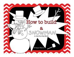 How to Build a Snowman Book (plus worksheets and recipe)