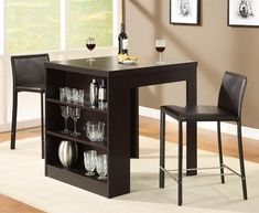 Broyhill Mirren Pointe Round 5 Piece Counter Pub Table Set For