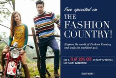 Mega Online Sale: Roam through a happy collection in the Fashion Country!