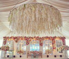Wedding Decor #PAMOBI2017 #Stagedecor #HangingFlorals #dancefloor #backdrop #Urns #Flowers #centerpiece #whitewedding #whiteweddingdecor #NigerianWedding #nigerianweddingdecor #eventdecor #eventdesign #decorinlagos #btgdecor Decor @btgdecor Planner @2706events Photographer @keziie