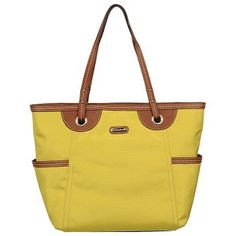 Naturalizer Paige 3 tote in yellow nylon