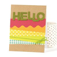 Layered Hello Card | November/December 2013 | Paper Crafts | Teri Anderson