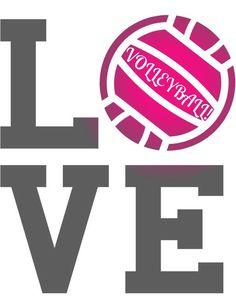love volleyball!-- shirt for Hailey & Kiana