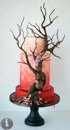 My Tree for Team Red - Cake by Tonya Alvey - MadHouse Bakes