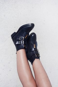 New biker boots via justlikesushi.com - boots, leather boots, legs, summer, festival, black boots, concrete, minimal, summer boots @sachashoes