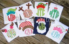 Made for Monogram Christmas Set Applique Design Machine Embroidery INSTANT DOWNLOAD on Etsy, $20.00