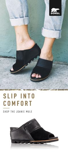 ca9bf3a75d08 Comfort and style come together in this deconstructed version of SOREL s  iconic Joan wedge. A