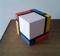 Piet Mondrian, Mondrian Kunst, Bauhaus, Wood Design, Design Art, Art Cube, Creation Art, Cube Design, Art Plastique
