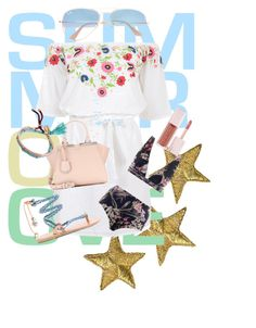 """summer time🌼"" by mo0dstylish on Polyvore featuring beauty, Pampelone, Ray-Ban, Ancient Greek Sandals, Fendi, Zimmermann, Billabong and Puma"