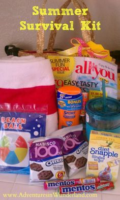 How to make a Summer Survival Kit for teachers