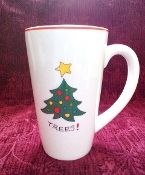 Fitz & Floyd Gourmet Christmas Happy Holidays Mug Set