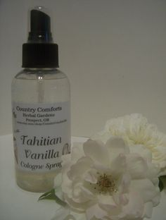 Tahitian Vanilla Cologne Body Spray - New Fragrance For 2015 - Perfume Spray, Scented Spray, Body Spray - 4 ounce sprayer bottle by CountryComfortsHG on Etsy