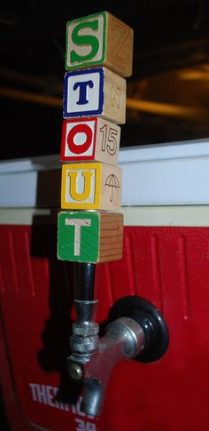 Beer Tap Handle IPA Repurposed Wooden Letter Blocks by TINEdesigns