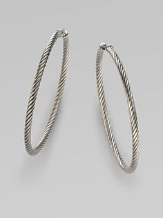 Got these for Christmas. Perfect hoops - literally with a twist