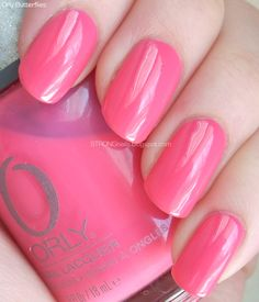 Orly Butterflies - almost neon pink - strongnails.blogspot.com #nails