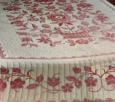 vintage cross stitch rose quilt | Vintage-PARAGON-Cross-Stitch-Double-Quilt-Top-Kit-COUNTRY-GARDEN