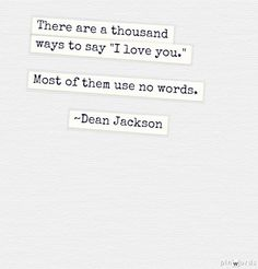 Wordless ~ Dean Jackson