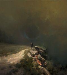 ArtStation - Heavy air, Vladimir Motsar Concept Art World, Fantasy Concept Art, Dark Fantasy, Ghost Of Tsushima, Cg Artist, Post Apocalypse, Illustrations, Environment Design, Animation Film