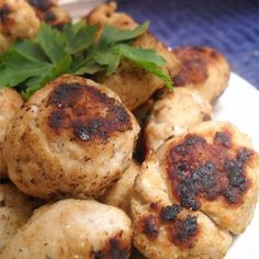 """and Turkey Italian Meatballs   """"You can make these turkey meatballs ..."""