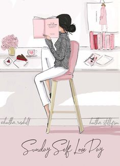 💘 hope you can take some time for you to regroup and relax. Valentines Art, Valentine Day Cards, Robert Kiyosaki, Kate Spade New York, Bon Weekend, Weekend Vibes, Illustration Mode, Girly, Happy Sunday