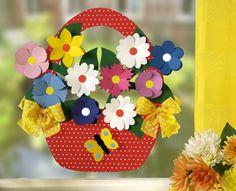 Cup Crafts, Book Crafts, Crafts To Make, Paper Crafts, Paper Flower Wreaths, Paper Flowers, Spring Crafts For Kids, Art For Kids, School Board Decoration