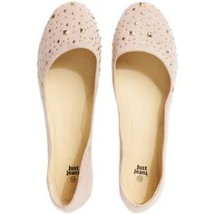 Chrissie Stud Ballet ($22) ❤ liked on Polyvore featuring shoes, flats, sapatos, sapatilhas, flat heel shoes, suede shoes, ballerina flats, suede ballerina flats and studded ballet flats
