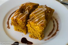 Coffee Raisin Cake With Sugar Glaze