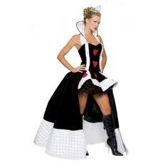 Costume dame de coeur deluxe en velours