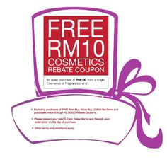 28 May-1 Jun 2015: SOGO Free RM10 Cosmetic Rebate Coupon