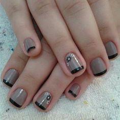 Uñas Fall Gel Nails, Simple Nails, Pedicure, Hair And Nails, Nail Art Designs, Nail Polish, Make Up, Nail Ideas, Nailart