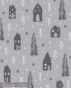 Website of pattern designer and illustrator Vanessa Waller Hygge Christmas, Christmas Diy, Christmas Cards, Christmas Patterns, Christmas Illustration, Cellphone Wallpaper, Surface Pattern Design, Secret Santa, Christmas Inspiration