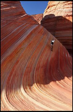 """Photographer at """"The Wave"""" in Arizona"""