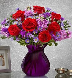 """Send flowers """"Straight From the Heart"""" with our dazzling Valentines floral…"""