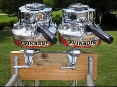 Evinrude Outboard Twin Screws