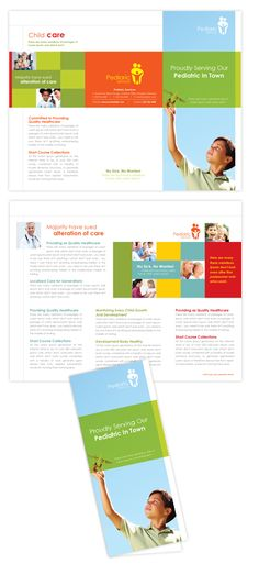 Pediatrician & Child Care Tri Fold Brochure Template Design | dLayouts® Leaflet Design, Graphic Design Templates, Graphic Design Layouts, Graphic Design Inspiration, Design Brochure, Brochure Template, School Brochure, Church Graphic Design, Folder Design